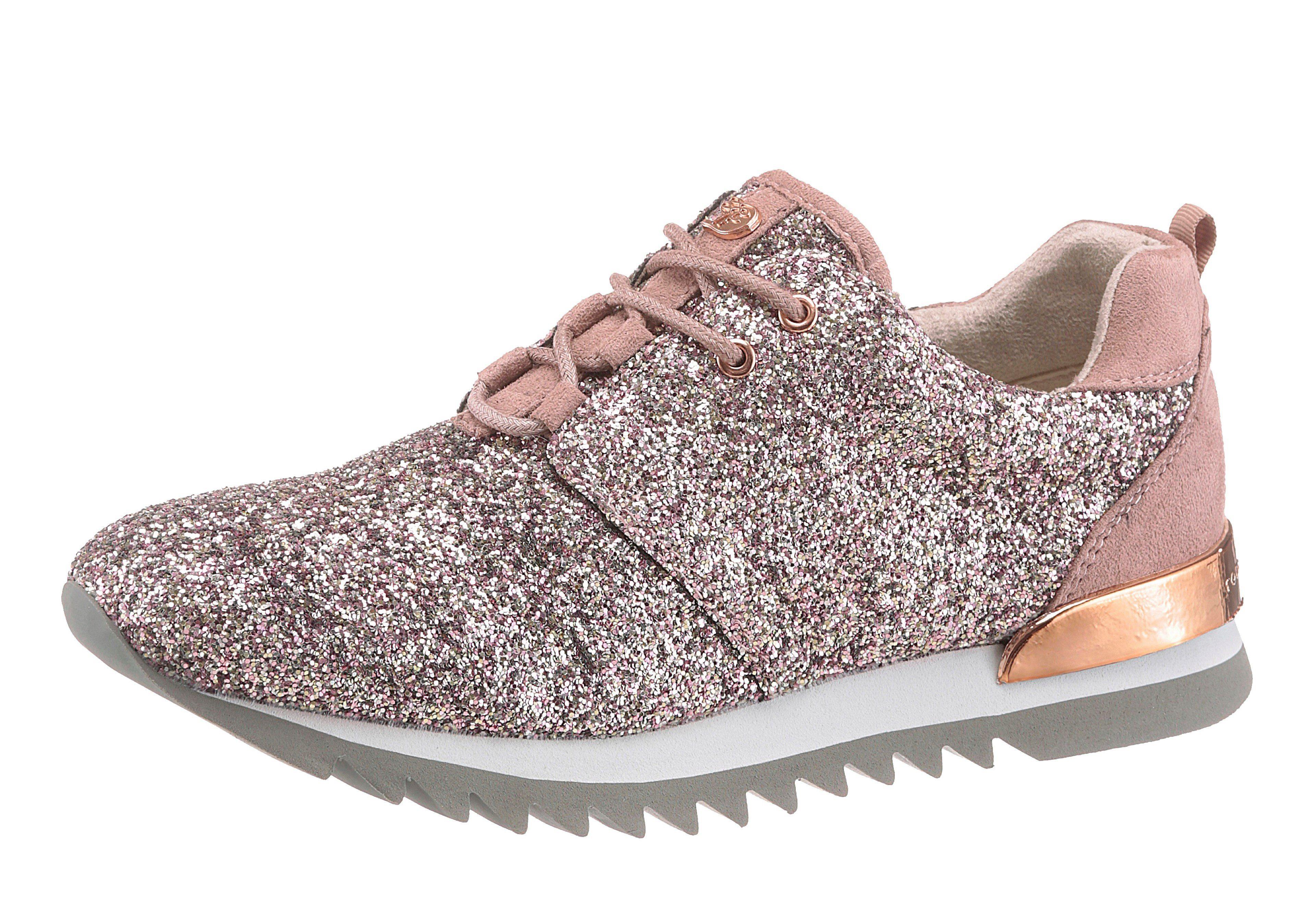 TOM TAILOR Sneaker mit Glitzereffekt rosa nQTEj