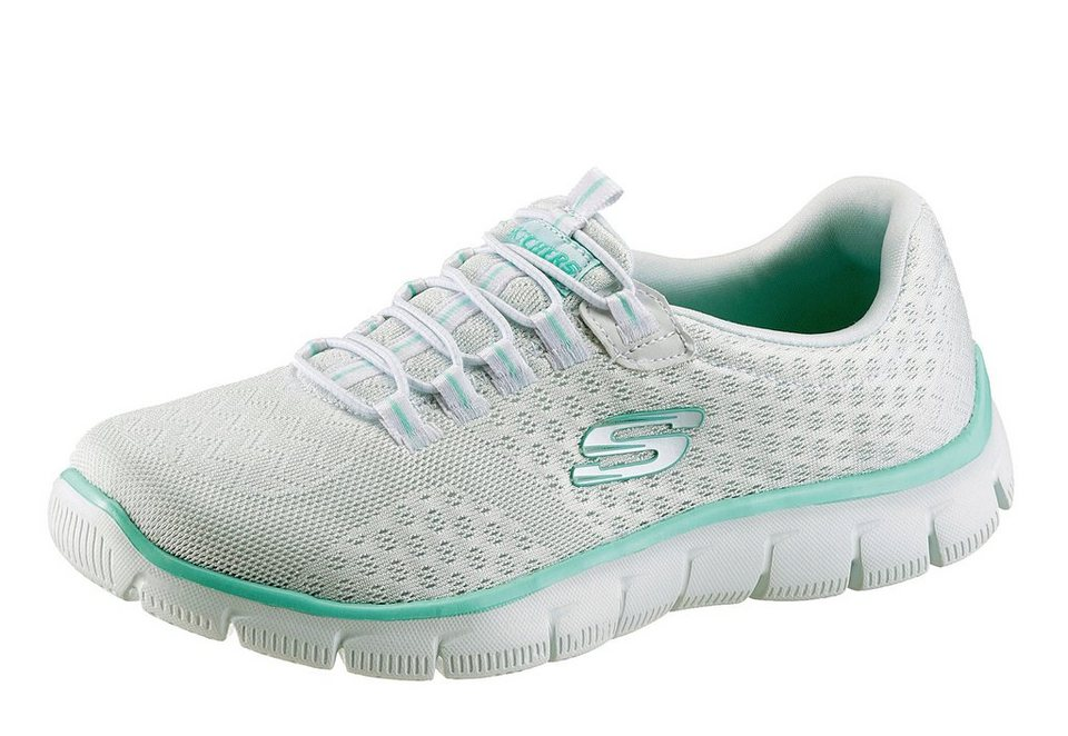 Skechers Slipper mit Memory Foam in weiß