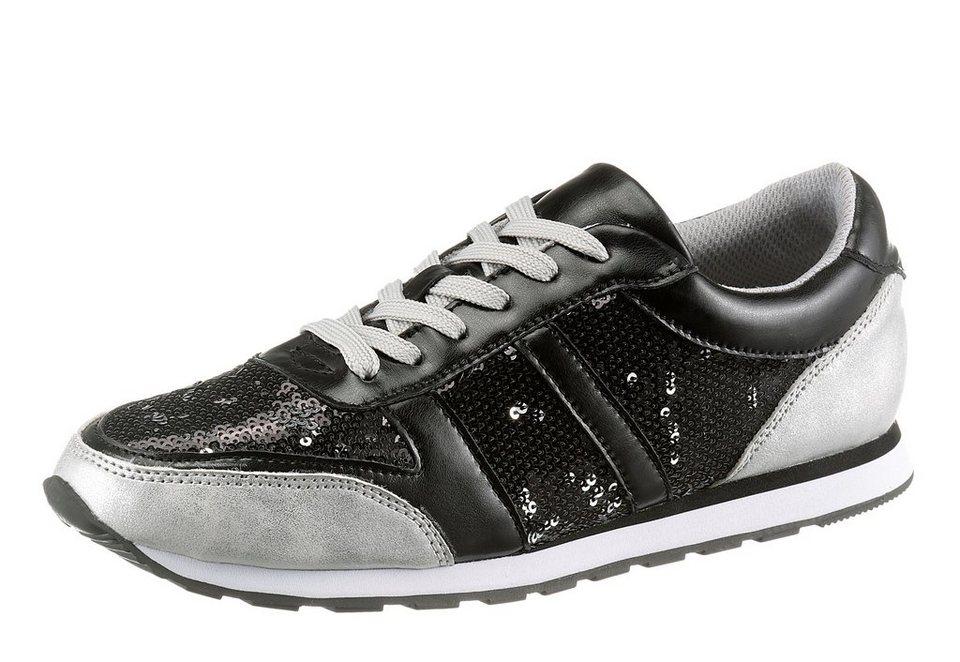 CITY WALK Sneaker in schwarz-silberfarben