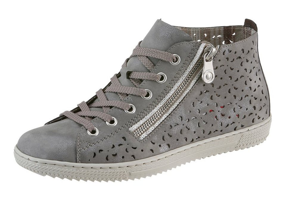 Rieker Sneaker mit toller Perforation in grau