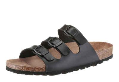943421c752bfb7 Bio Time Pantolette mit Veloursleder-Fußbett