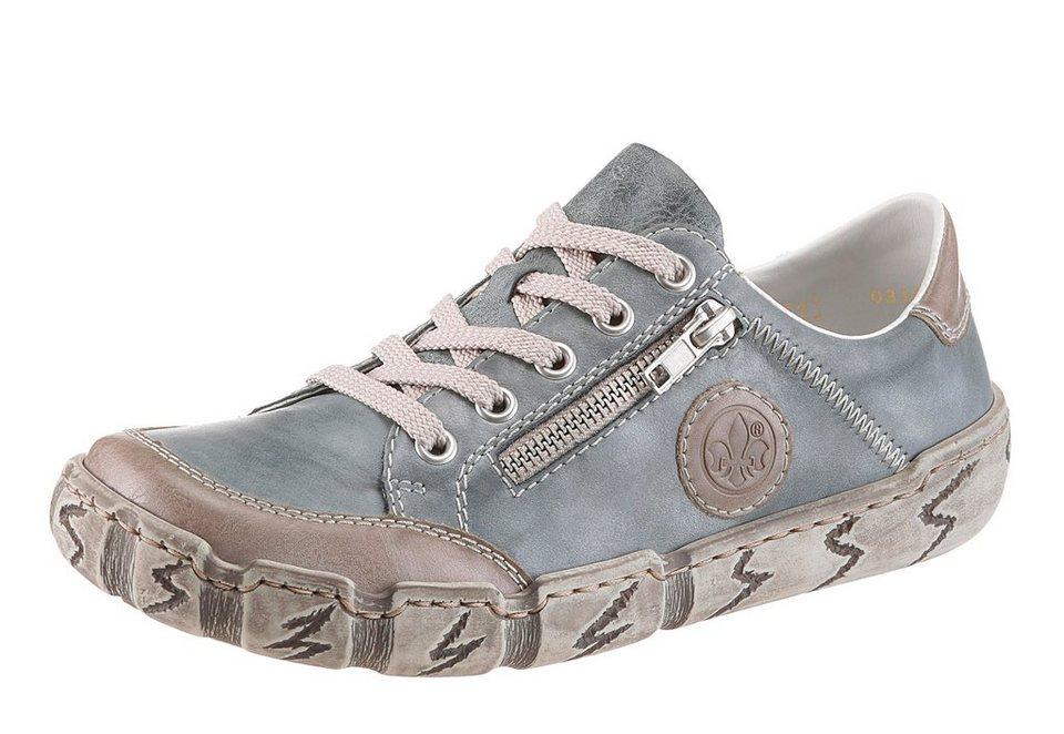 Rieker Schnürschuh in graublau-taupe