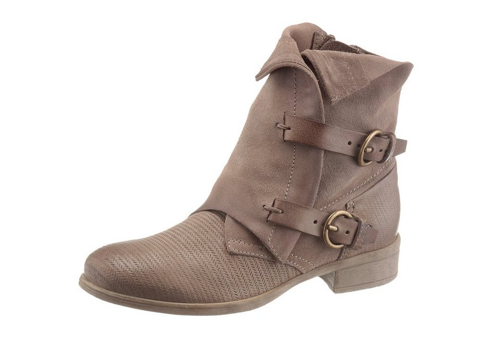 Arizona Stiefelette im Used-Look in taupe