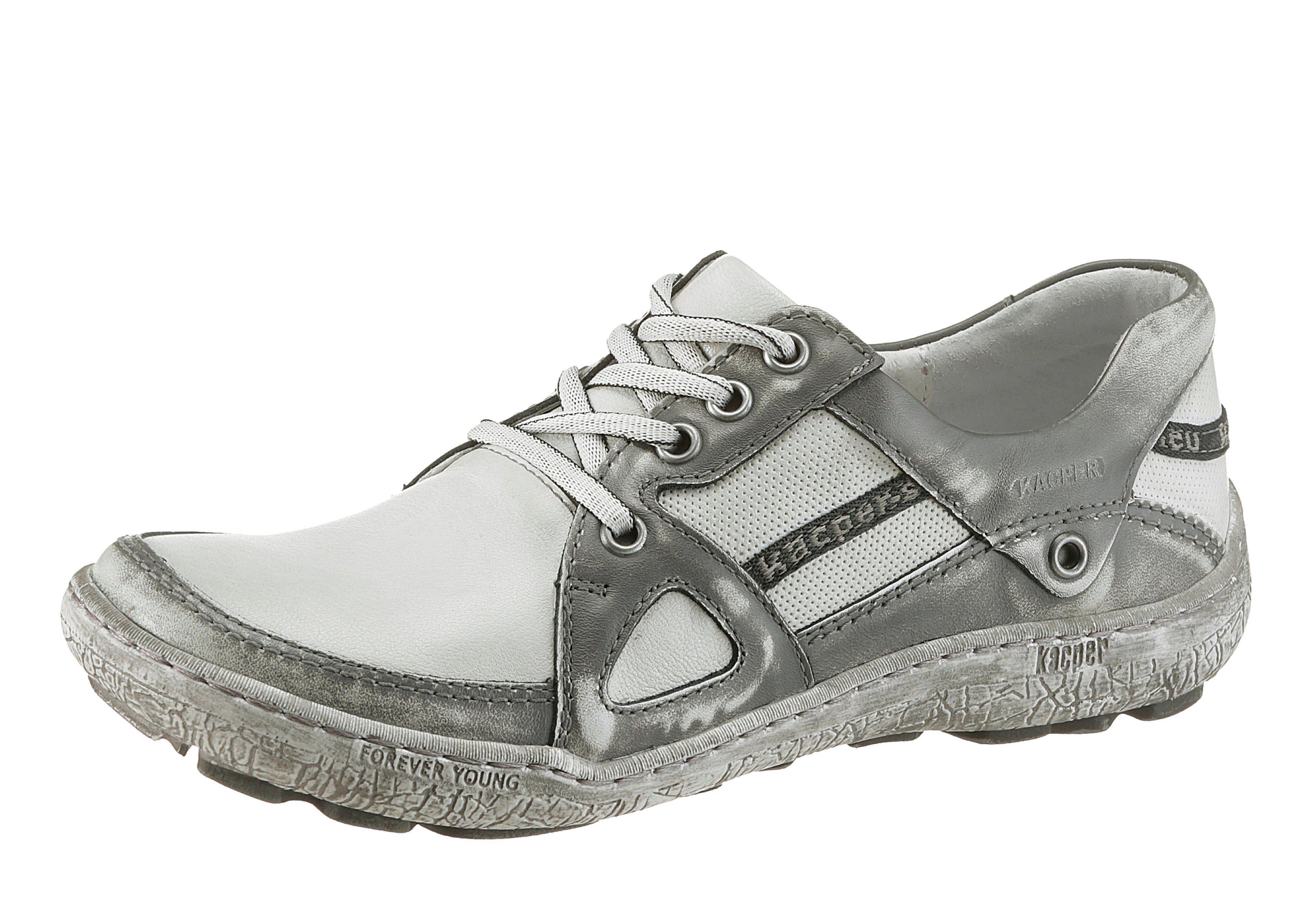 KACPER Schnürschuh, im coolen Used-Look kaufen  weiß-grau
