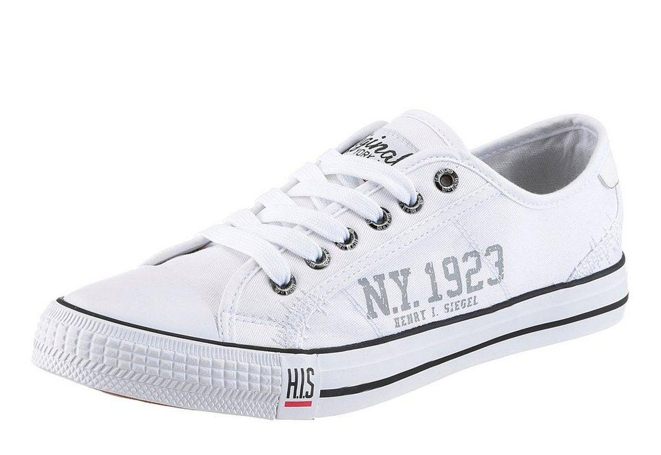 H.I.S Sneaker mit Gummikappe in weiß