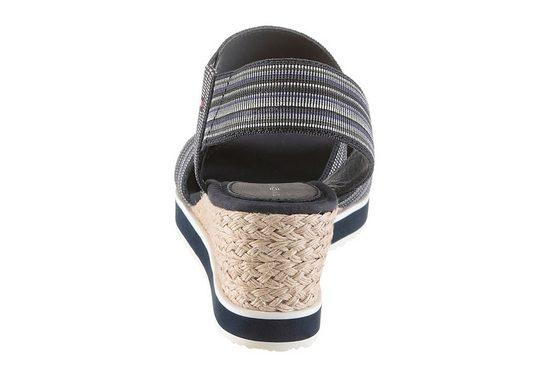 Tommy Hilfiger Sandalette, mit jutebezogenem Keilabsatz