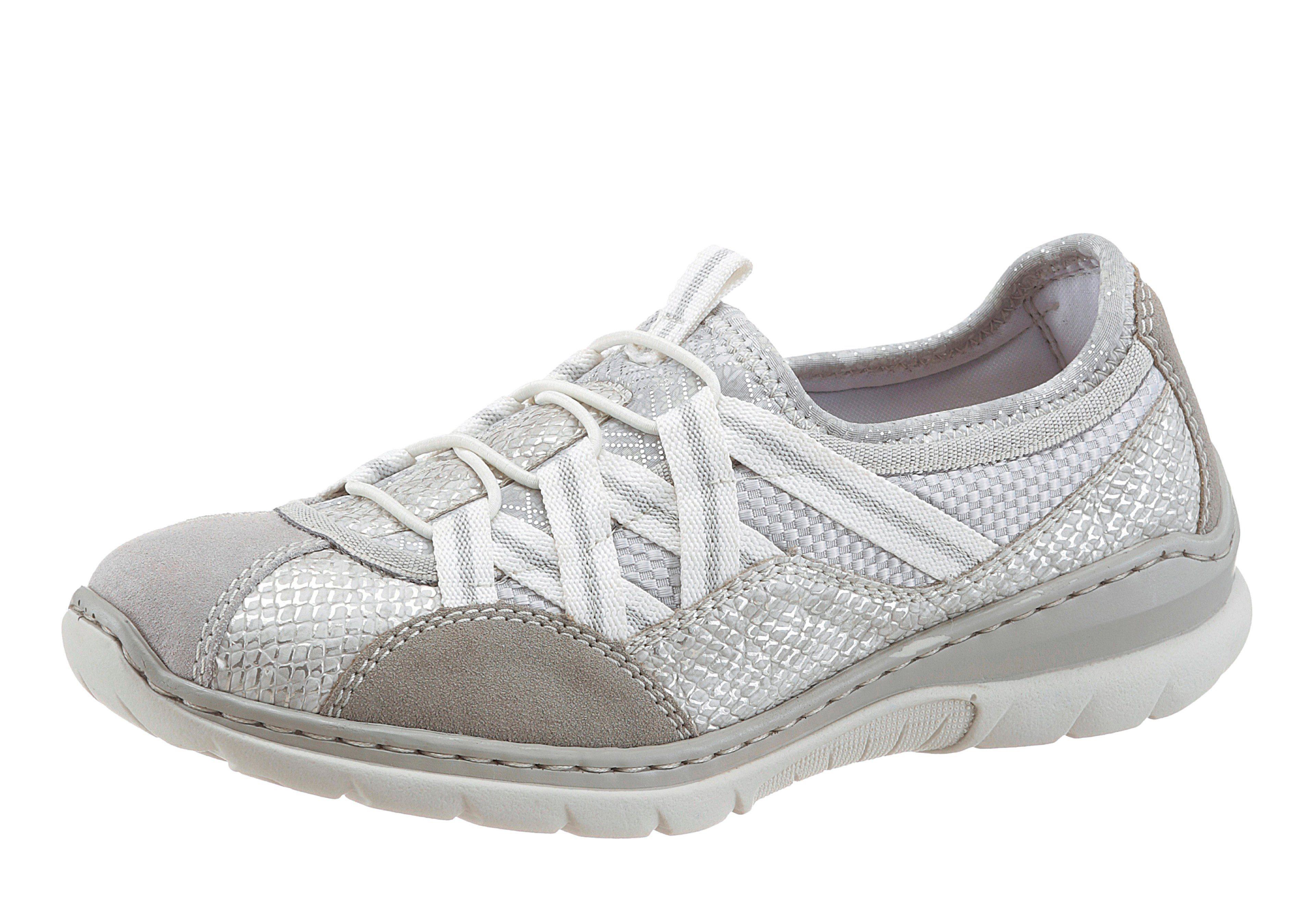 Rieker Sneaker, mit Blütendruck, grau, 36 36