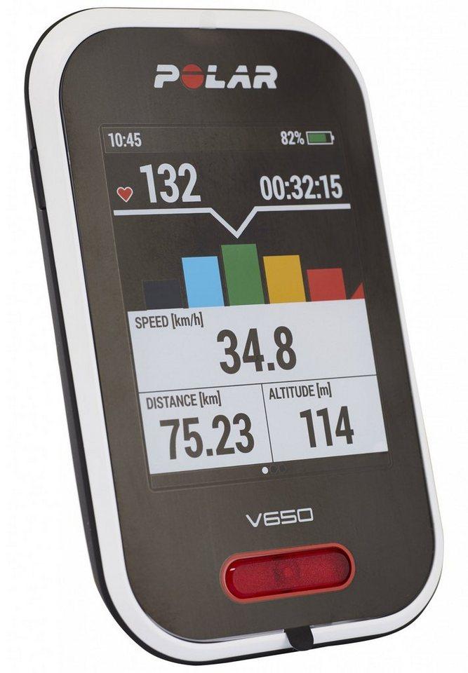 Polar Navigationsgerät »V650 GPS Fahrradcomputer + Herzfrequenz-Sensor«