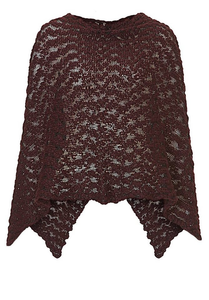 Cartoon Poncho in Mauve Wine - Pink