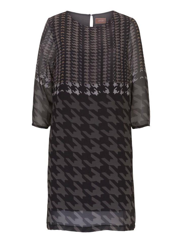 Cartoon Kleid in Black Khaki - Grau