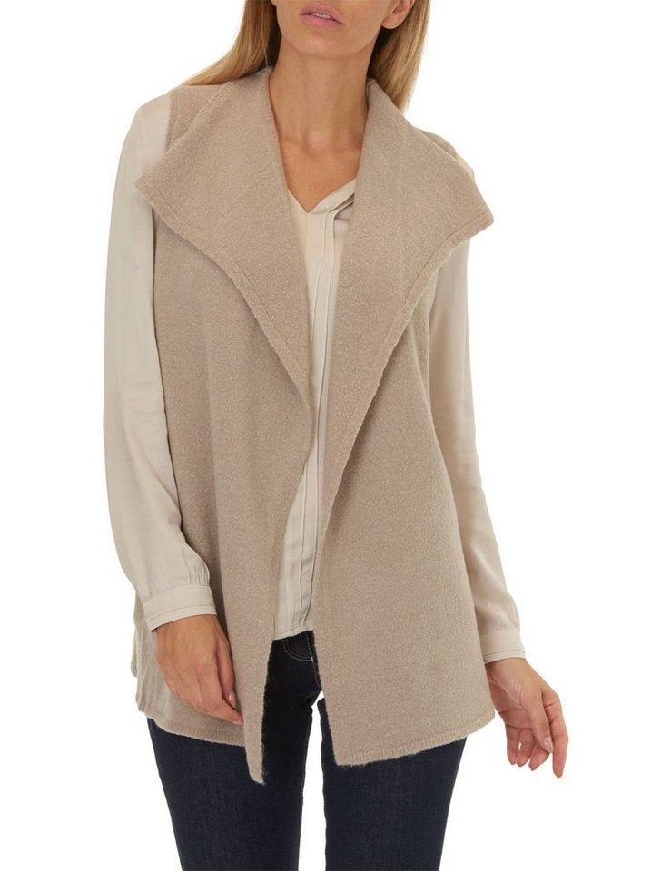 Betty Barclay Strickweste in Taupe Melange - Bunt
