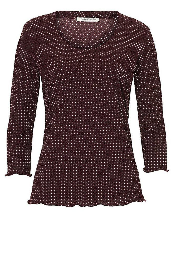 Betty Barclay Shirt in Dark Red/Cream - Bun