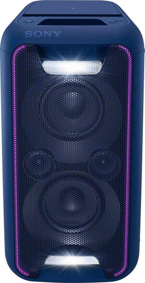 Sony GTK-XB5 Party Soundsystem (200 Watt, extra Bass, High Power, Bluetooth, NFC ) in blau