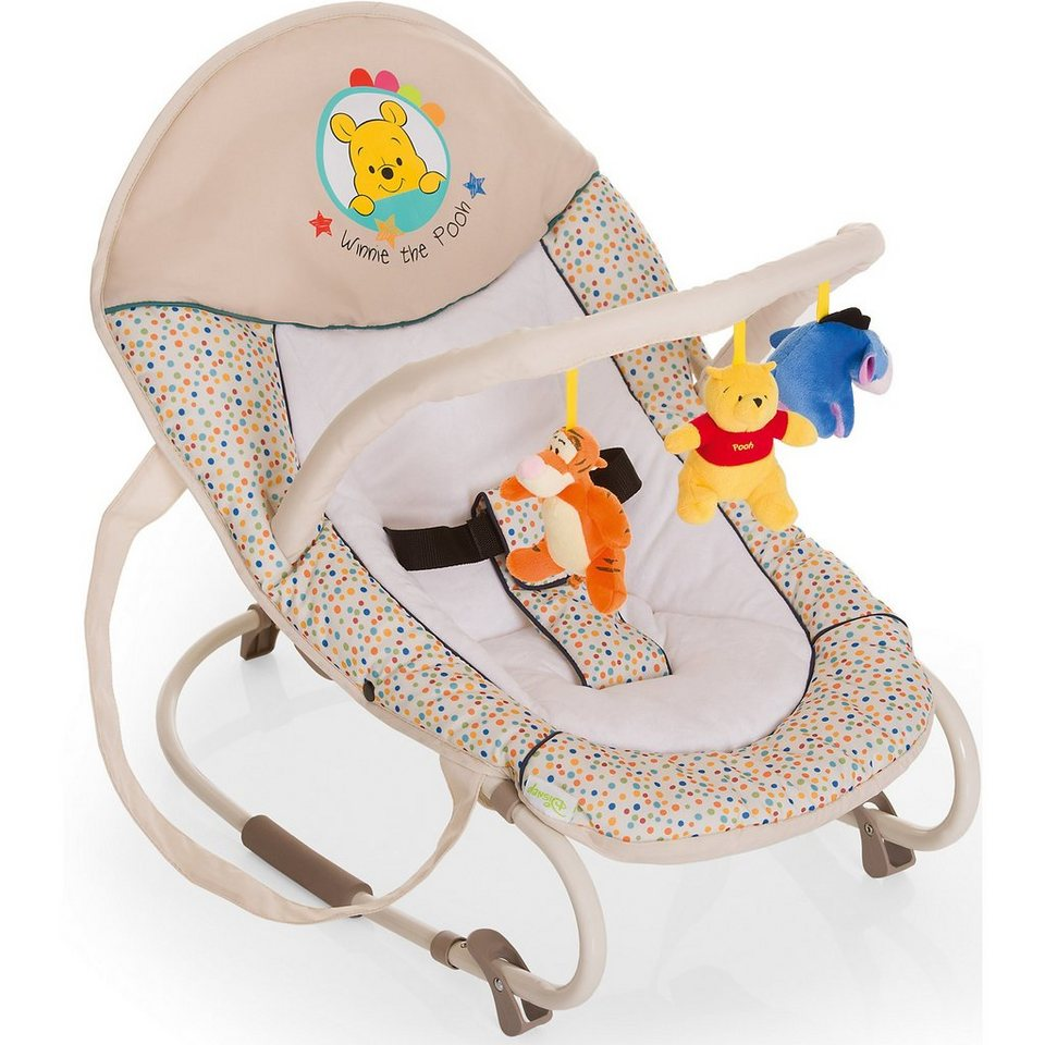 Hauck Wippe Bungee Deluxe, Pooh Ready to Play in beige