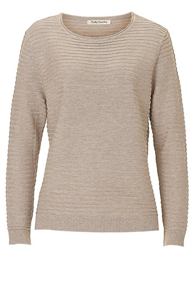 Betty Barclay Strickpullover in Taupe Melange - Brau