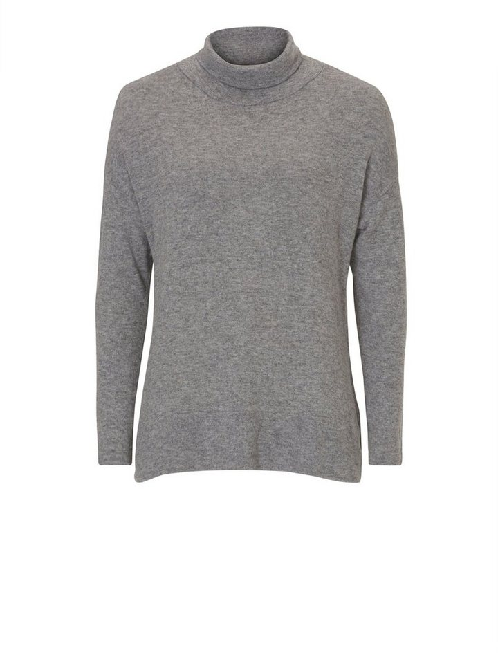 Cartoon Strickpullover in Grau - Bunt
