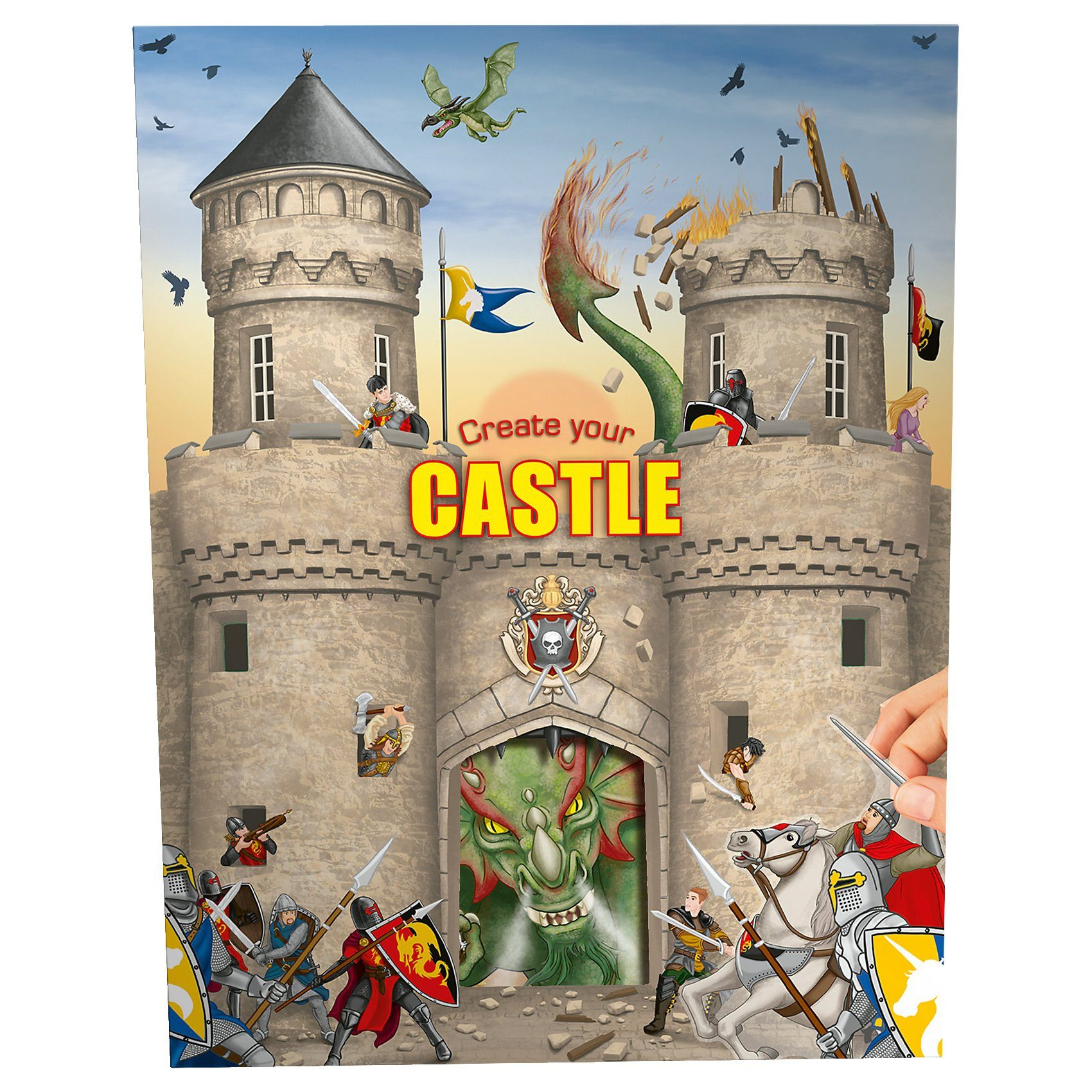 Depesche Create your Castle - Malbuch mit Stickern