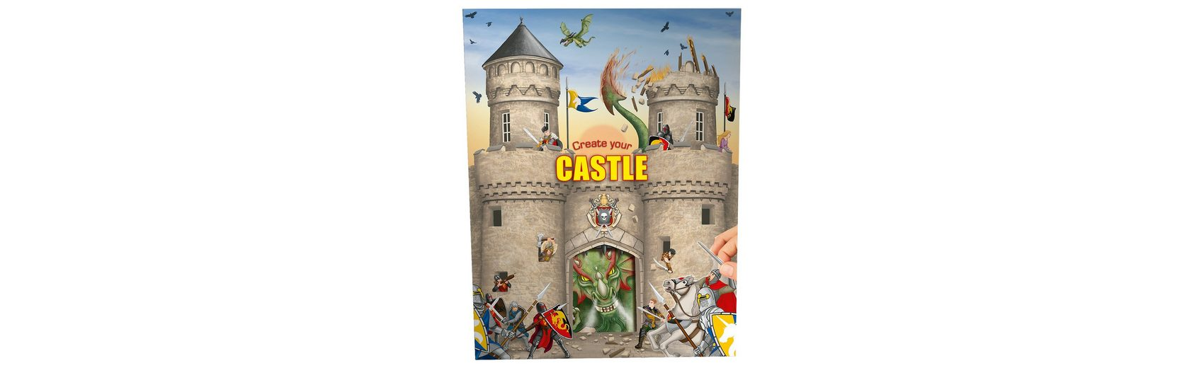 Depesche Create your Castle - Malbuch mit Stickern