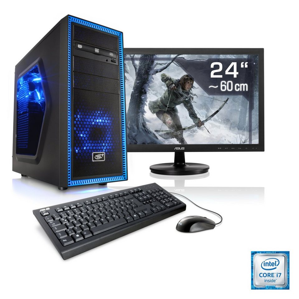 "CSL Gaming PC Set   i7-6700   GeForce GTX 960   8 GB RAM   24"" TFT »Speed T7821 Windows 10 Home«"