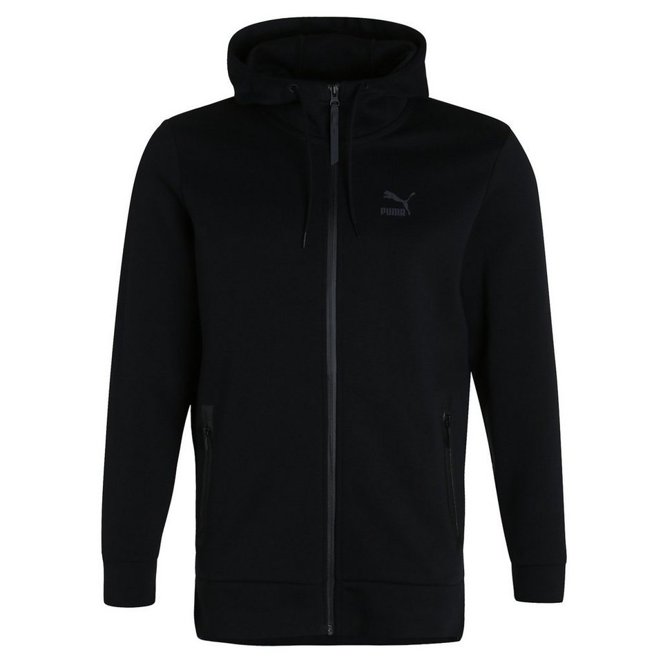 PUMA Evolution Full-Zip Kapuzenjacke Herren in schwarz