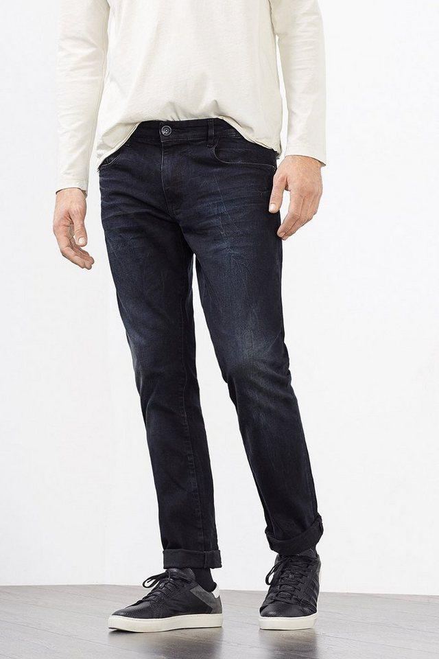 ESPRIT CASUAL 6-Pocket-Jeans aus Stretch-Denim in BLUE DARK WASHED