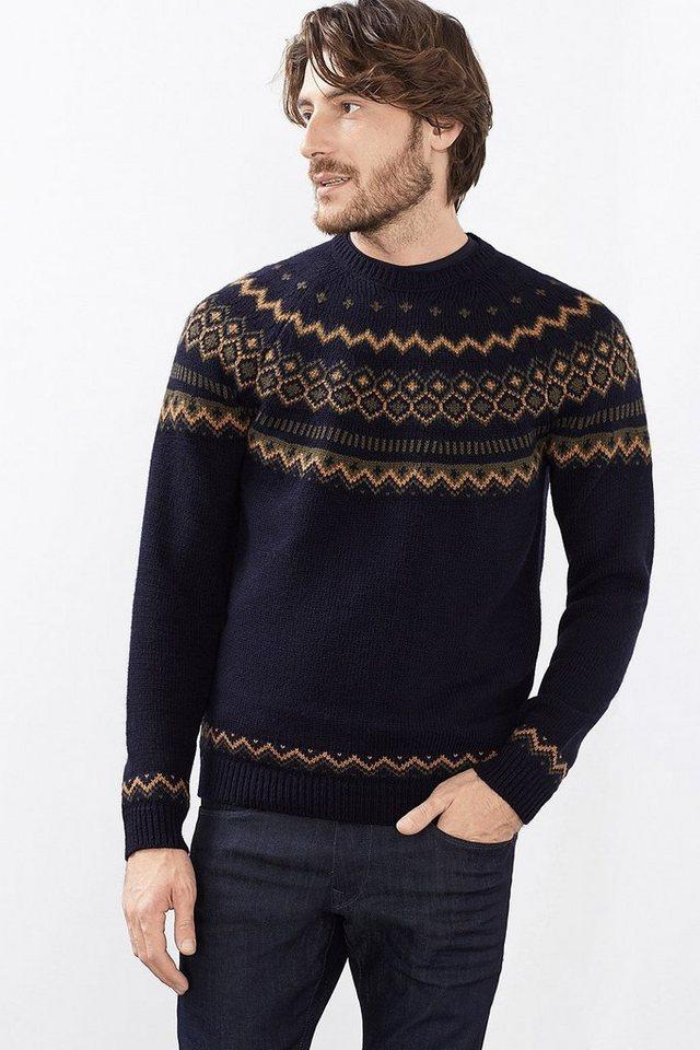 ESPRIT CASUAL Nordic Pulli aus warmem Strick mit Wolle in NAVY
