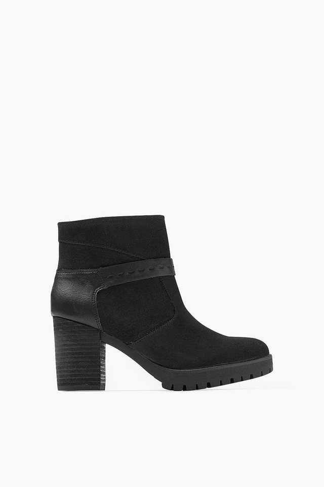 ESPRIT CASUAL Fashion Bootie im Material-Mix in BLACK