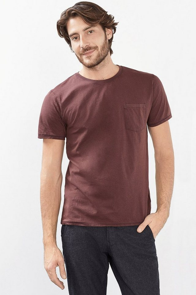 ESPRIT CASUAL Vintage Jersey T-Shirt, 100% Baumwolle in BORDEAUX RED