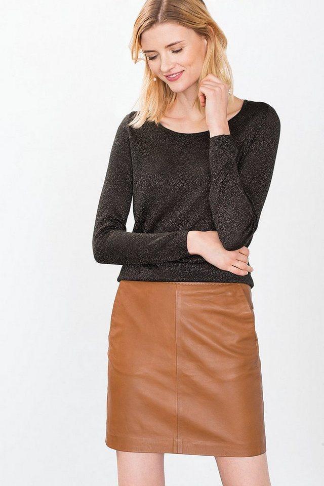 ESPRIT COLLECTION Hauchzarter Fashion Pulli in BOTTLE GREEN