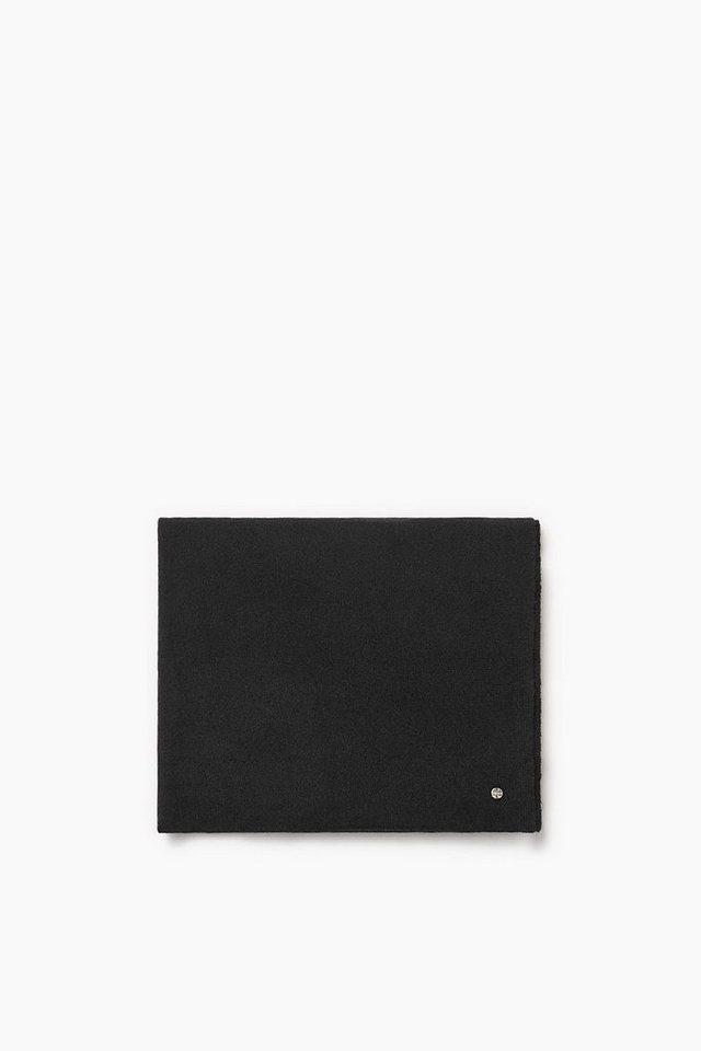 ESPRIT CASUAL Premium Strickschal aus Wolle/Kaschmir in BLACK