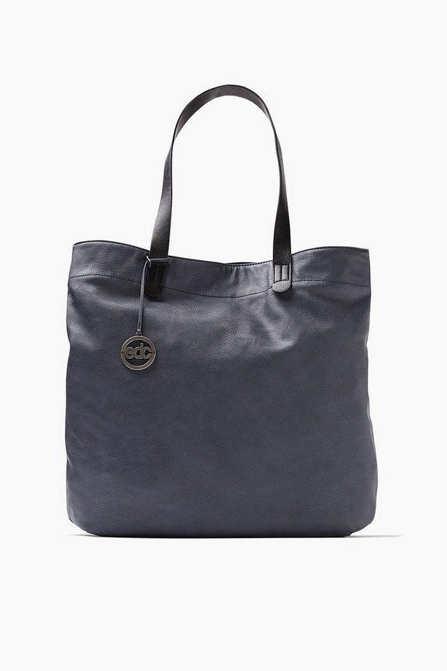 EDC Shopper im Leder-Look in GREY BLUE