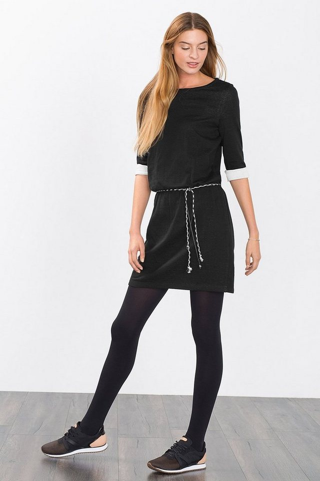 ESPRIT CASUAL Softes Jersey-Kleid im Doubleface-Style in BLACK