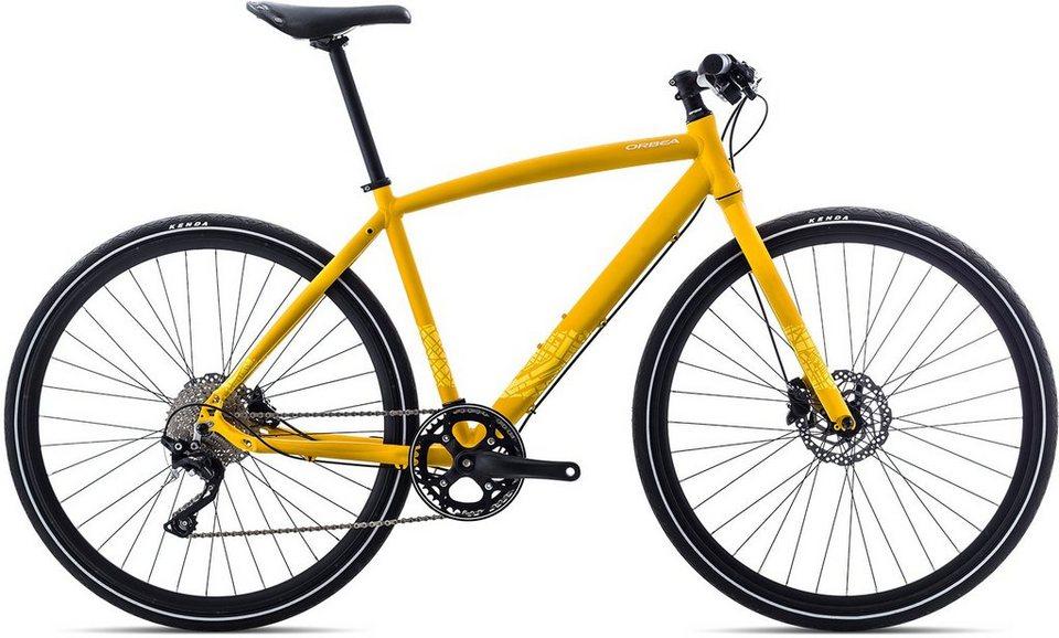 ORBEA Fitnessbike, 28 Zoll, 10 Gang Shimano XT Kettenschaltung, »Carpe 10« in gelb