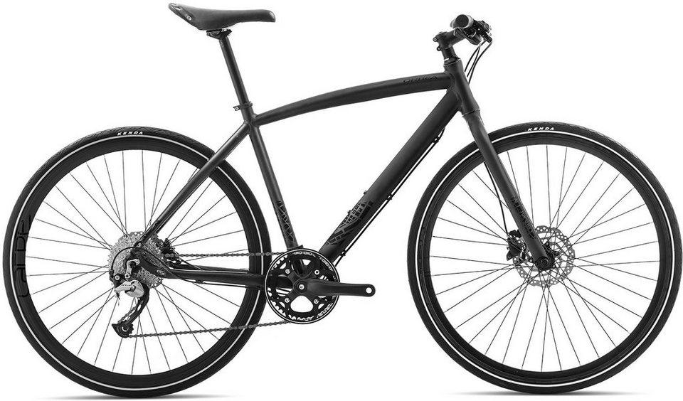 ORBEA Fitnessbike, 28 Zoll, 9 Gang Shimano Acera Kettenschaltung, »Carpe 20« in schwarz
