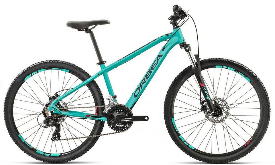 ORBEA Hardtail Mountainbike, 26 Zoll, 24 Gang Shimano Altus Kettenschaltung, »MX 26 Dirt« in grün-rot