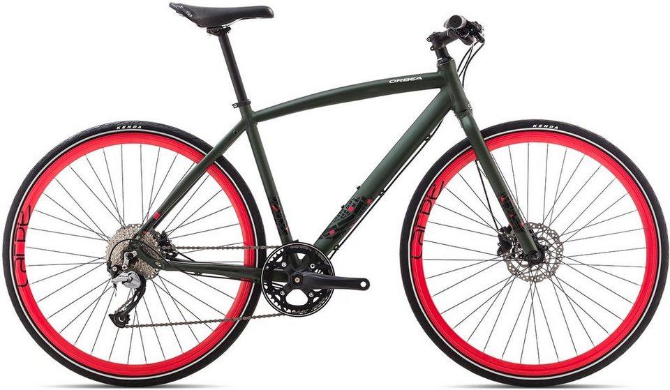 ORBEA Fitnessbike, 28 Zoll, 9 Gang Shimano Acera Kettenschaltung, »Carpe 20« in grün-rot