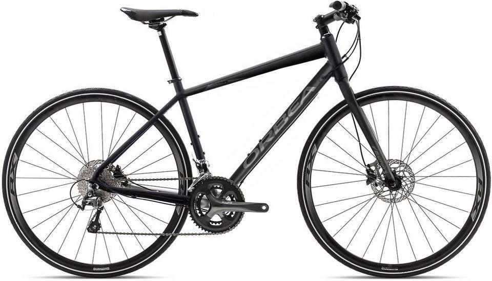 ORBEA Fitnessbike, 28 Zoll, 20 Gang Shimano Tiagra Kettenschaltung, »Vector 10« in schwarz