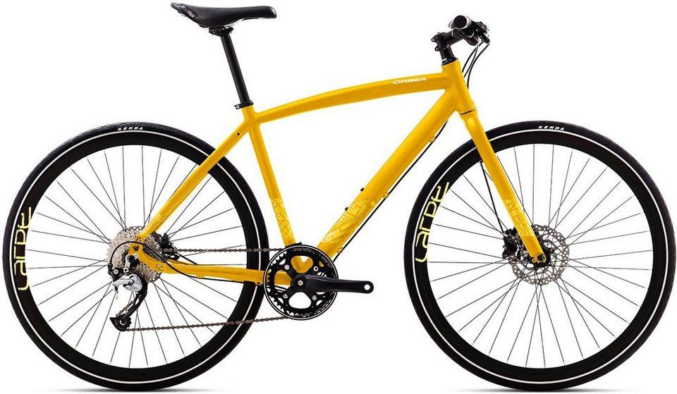 ORBEA Fitnessbike, 28 Zoll, 9 Gang Shimano Acera Kettenschaltung, »Carpe 20« in gelb