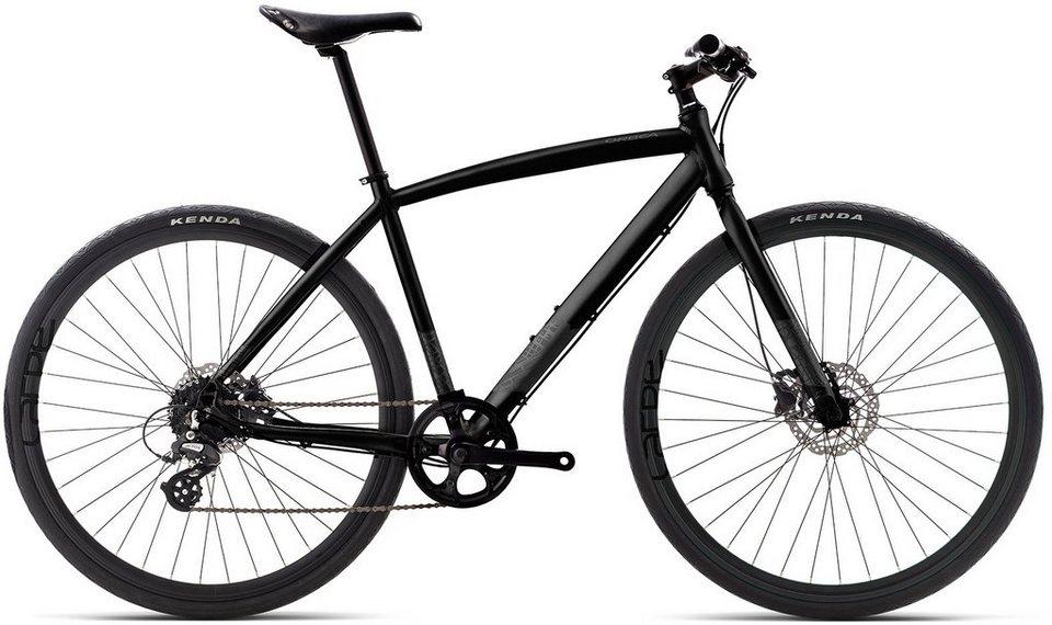 ORBEA Fitnessbike, 28 Zoll, 8 Gang Shimano Altus Kettenschaltung, »Carpe 30« in schwarz