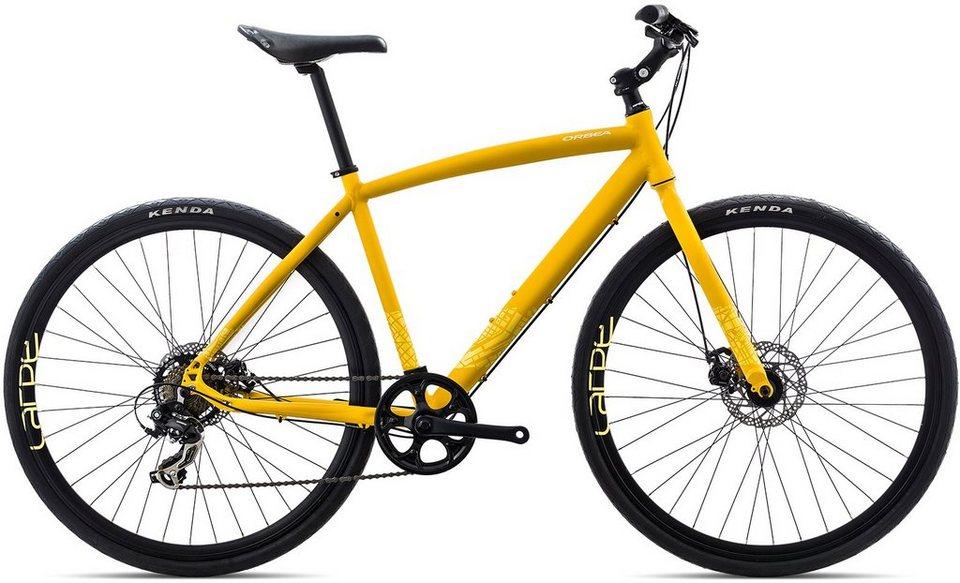 ORBEA Fitnessbike, 28 Zoll, 7 Gang Shimano TY300 Kettenschaltung, »Carpe 40« in gelb