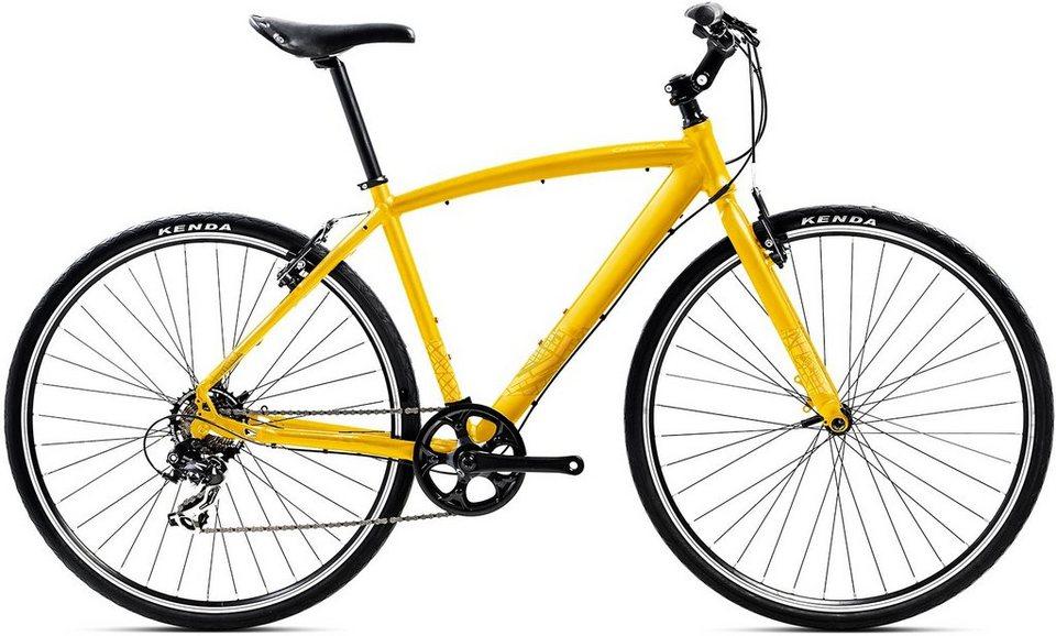 ORBEA Fitnessbike, 28 Zoll, 7 Gang Shimano TY300 Kettenschaltung, »Carpe 50« in gelb