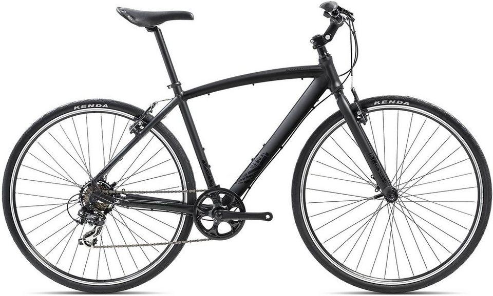 ORBEA Fitnessbike, 28 Zoll, 7 Gang Shimano TY300 Kettenschaltung, »Carpe 50« in schwarz
