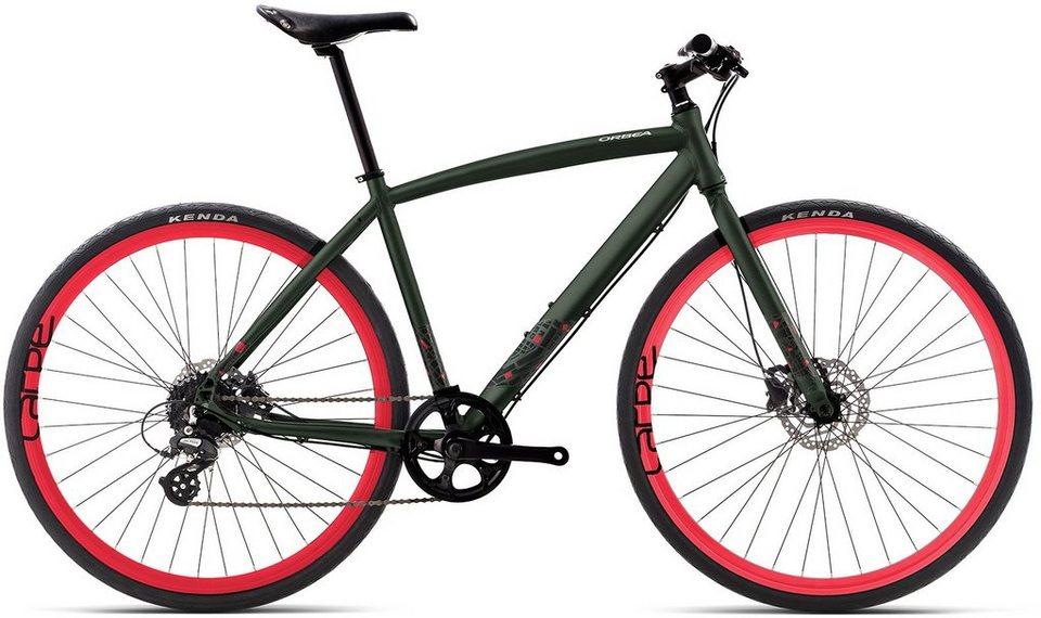 ORBEA Fitnessbike, 28 Zoll, 8 Gang Shimano Altus Kettenschaltung, »Carpe 30« in grün-rot