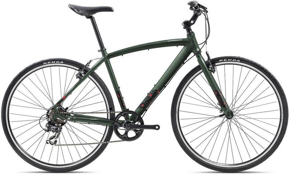 ORBEA Fitnessbike, 28 Zoll, 7 Gang Shimano TY300 Kettenschaltung, »Carpe 50« in grün-rot