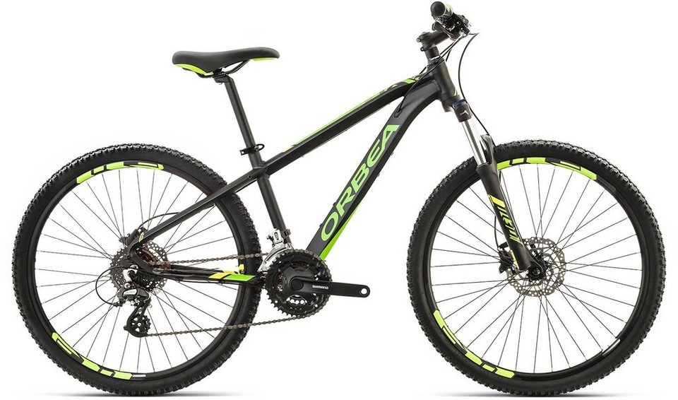 ORBEA Hardtail Mountainbike, 26 Zoll, 24 Gang Shimano Altus Kettenschaltung, »MX 26 XC« in schwarz-grün-gelb