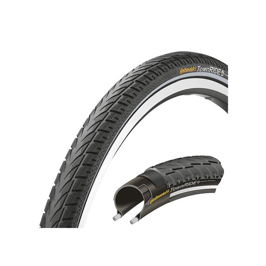 "Continental Fahrradreifen »Town RIDE 26 x 1,75"" Puncture Protection Draht«"