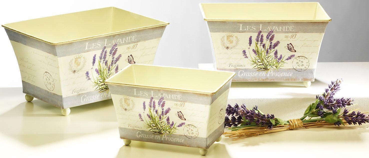 Home affaire Deko-Übertopf »Lavendel« (3-tlg.)