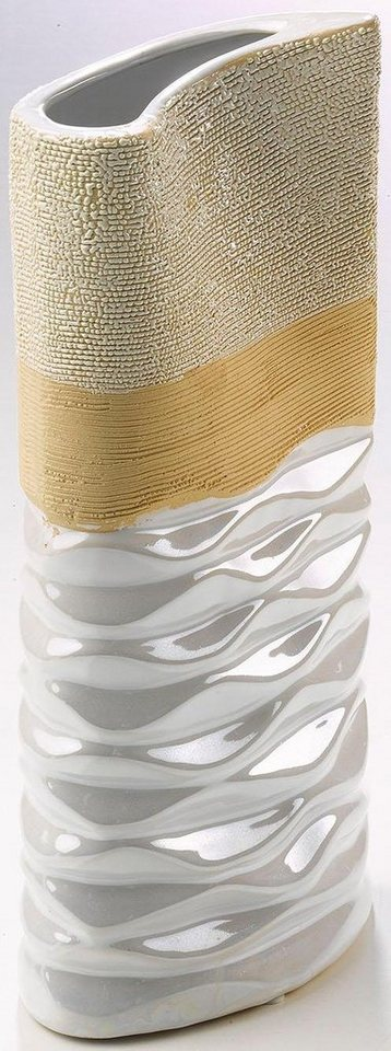 Home affaire Deko-Vase in weiß/beige