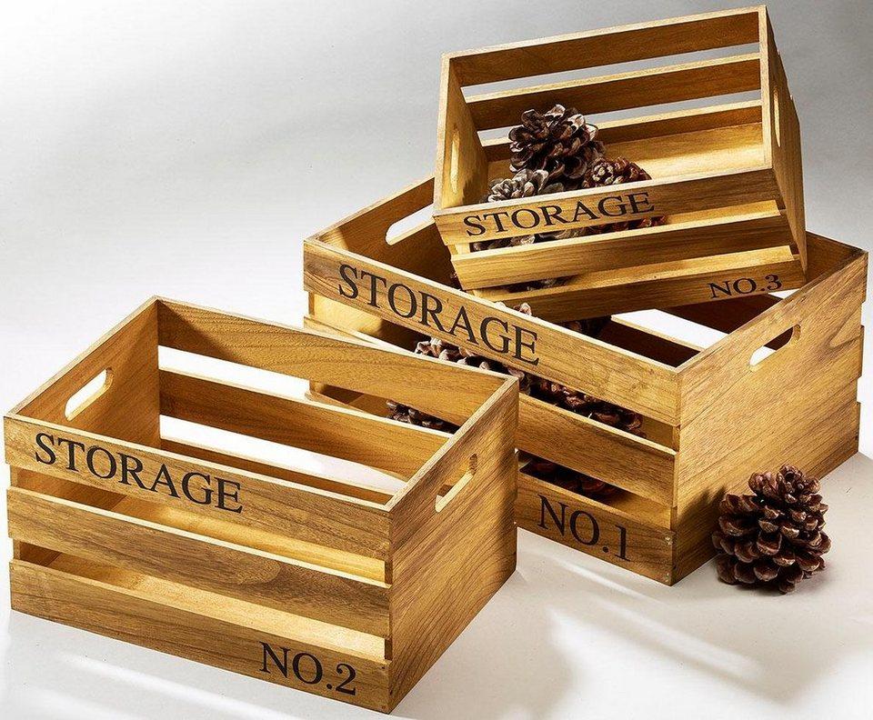 Home affaire Storage-Kiste (3-tlg.) in natur