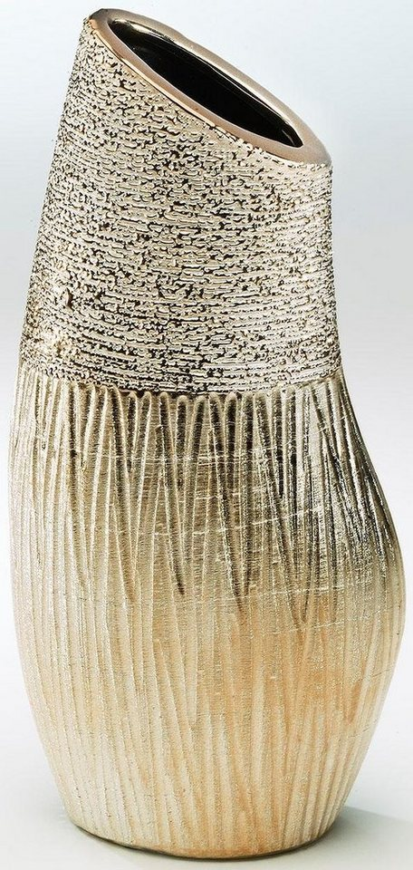 Home affaire Deko-Vase in gold